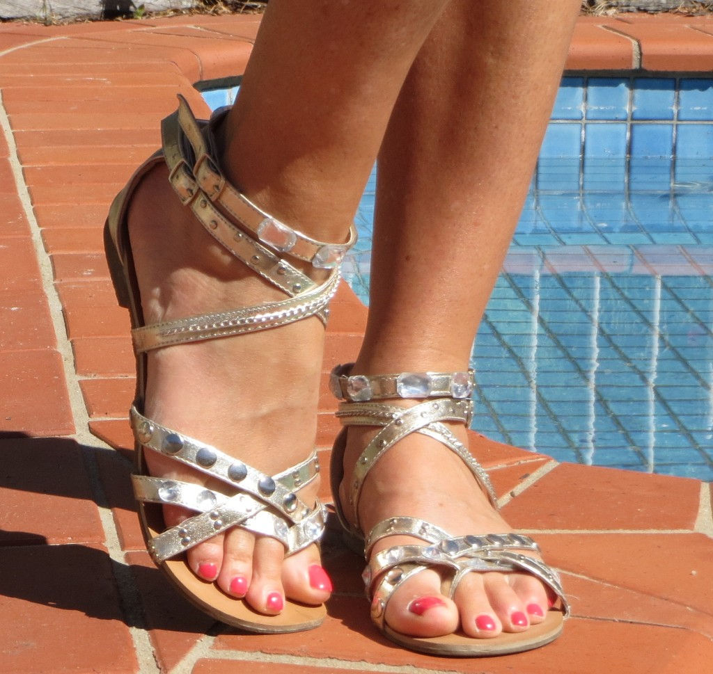 Silver, jewelled River sandals 2