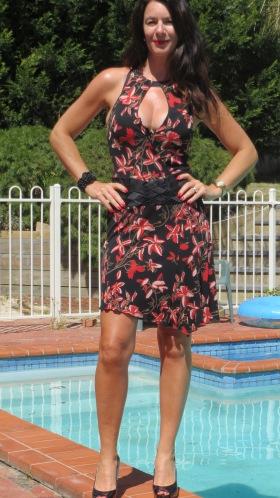 Bebe deep neckline dress 2