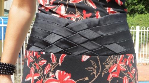 Bebe deep neckline dress, close