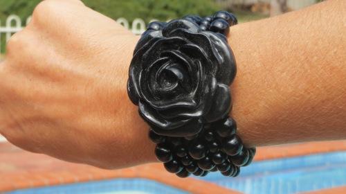 Black rose cuff