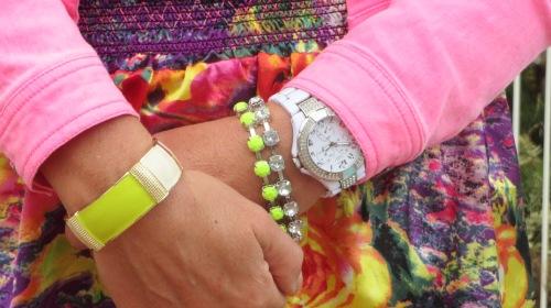 Diva neon yellow cuff & bracelet