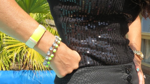 Neon green Diva bracelet & cuff