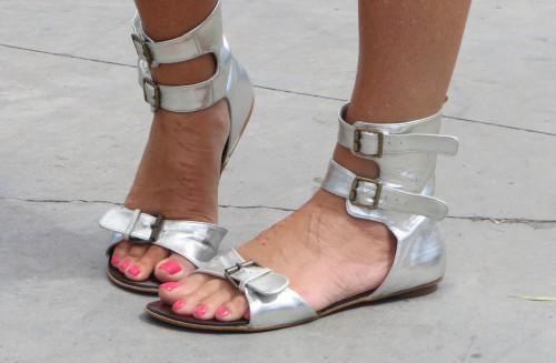 Silver Roman sandals