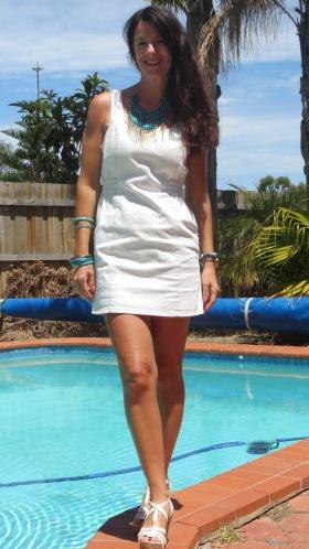 White denim dress 1