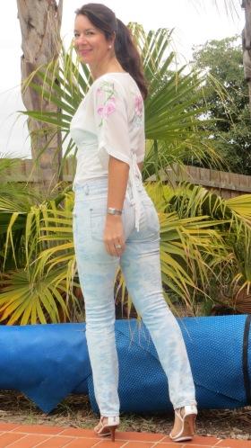 White-wash jeans, back 1