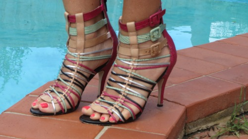 Wittner multi-color strappy heels