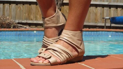 Beige Target sandals