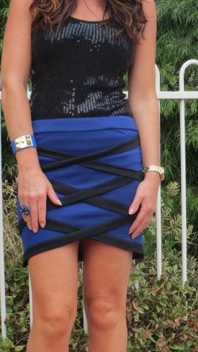 Blue & black criss-cross skirt 2