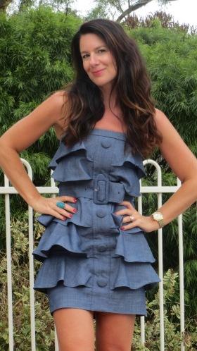Denim ruffle dress 2