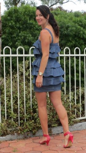Denim ruffle dress 5