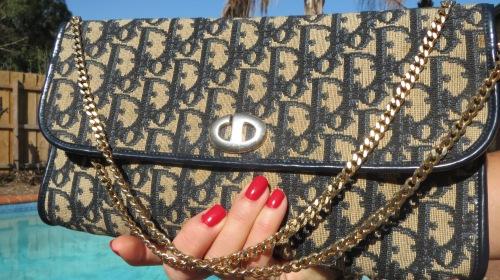 Dior navy clutch bag
