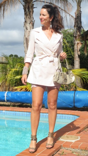 Nude pink trench 2
