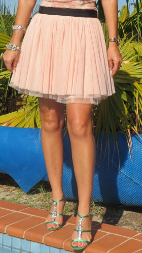 Sass blush pink skirt 2