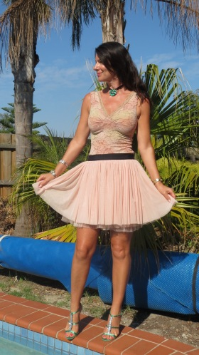 Sass blush pink skirt