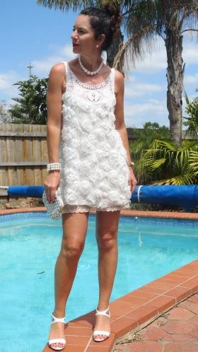 White frou-frou dress 1