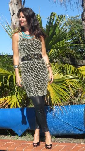 Gold mesh dress 2