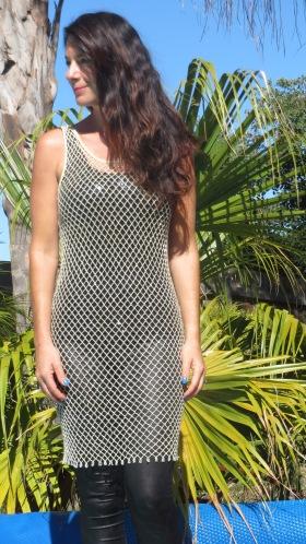 Gold mesh dress 3