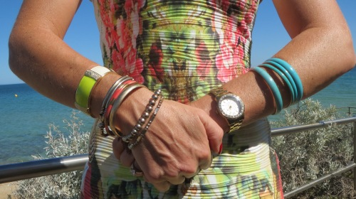 Graphic print dress bracelets
