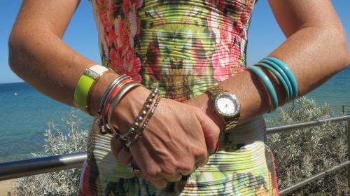 Graphic print dress bracelets