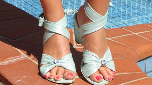 Green Django & Juliette mini wedges