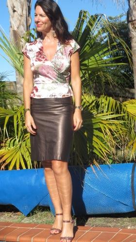 Leather metallic skirt 1