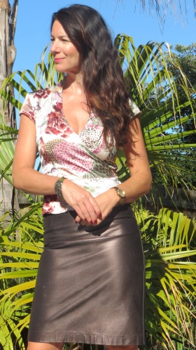 Leather metallic skirt 2