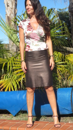 Leather metallic skirt 3