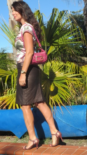 Leather metallic skirt 5