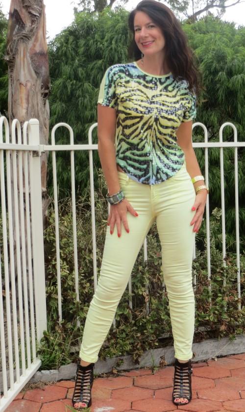 Lemon jeans & sequin lemon t 1