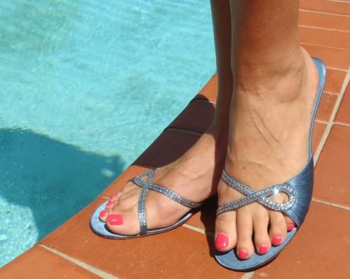 Midas blue diamante sandals
