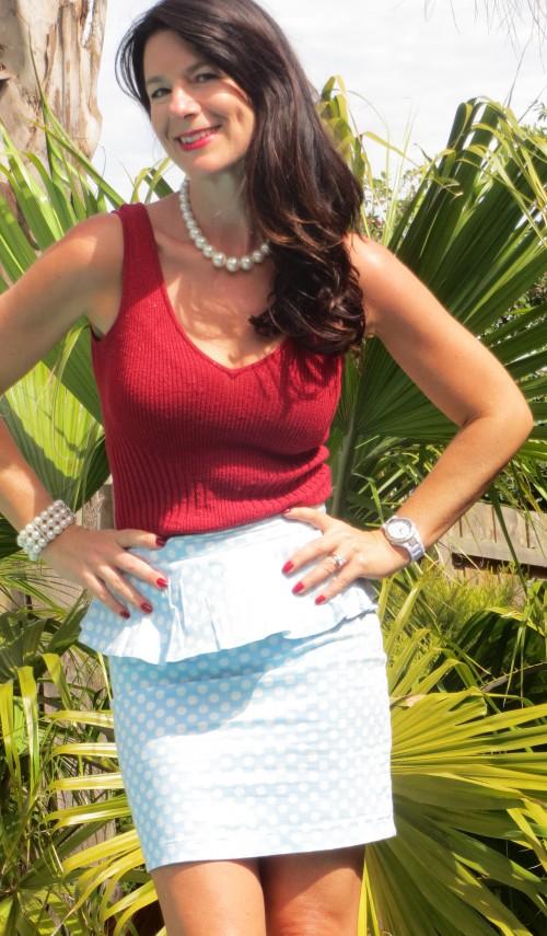 Peplum polka-dot skirt 1