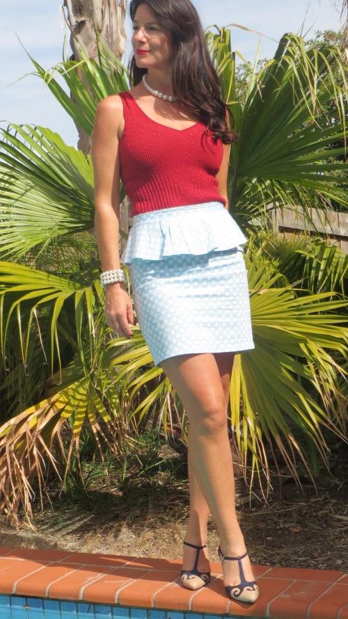 Peplum polka-dot skirt 2