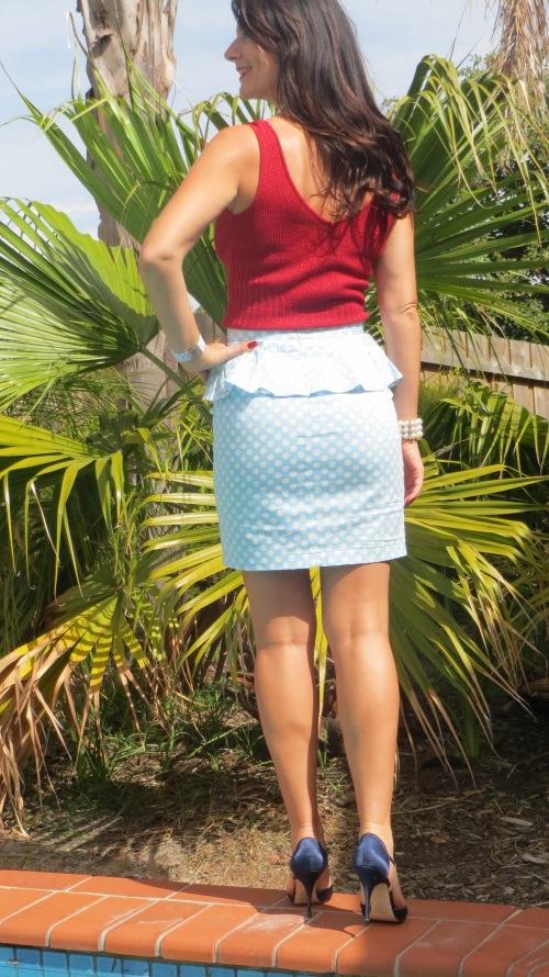 Peplum polka-dot skirt 3