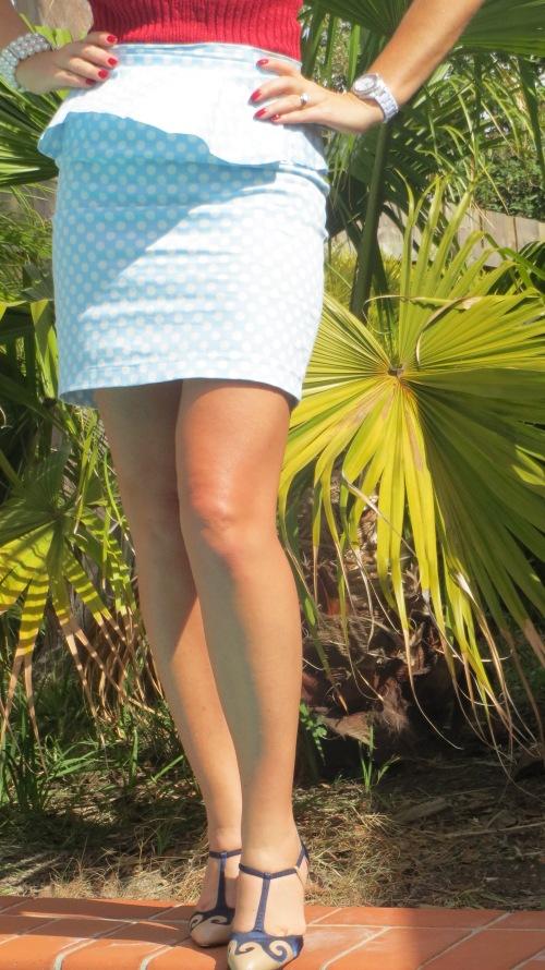 Peplum polka-dot skirt 4