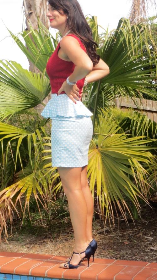 Peplum polka-dot skirt 5