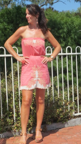 Supre strapless pink dress 1