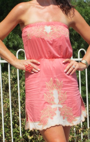 Supre strapless pink dress 5