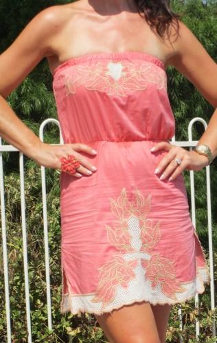 Supre strapless pink dress 5