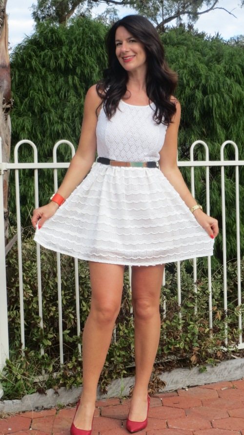 White lace dress 1