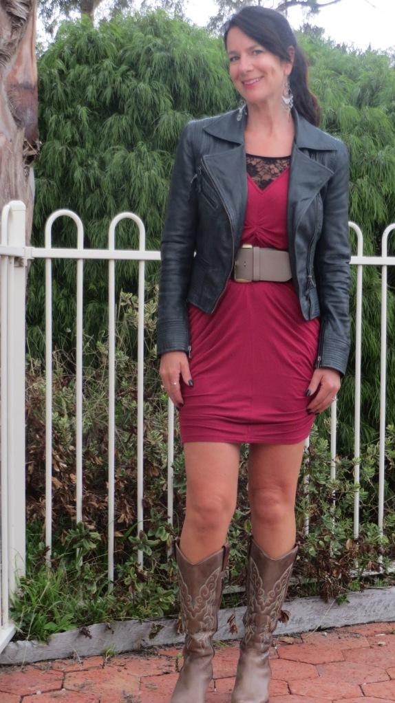 Berry pink dress 3