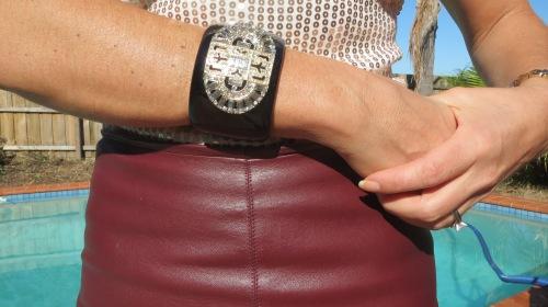 Black baroque style cuff