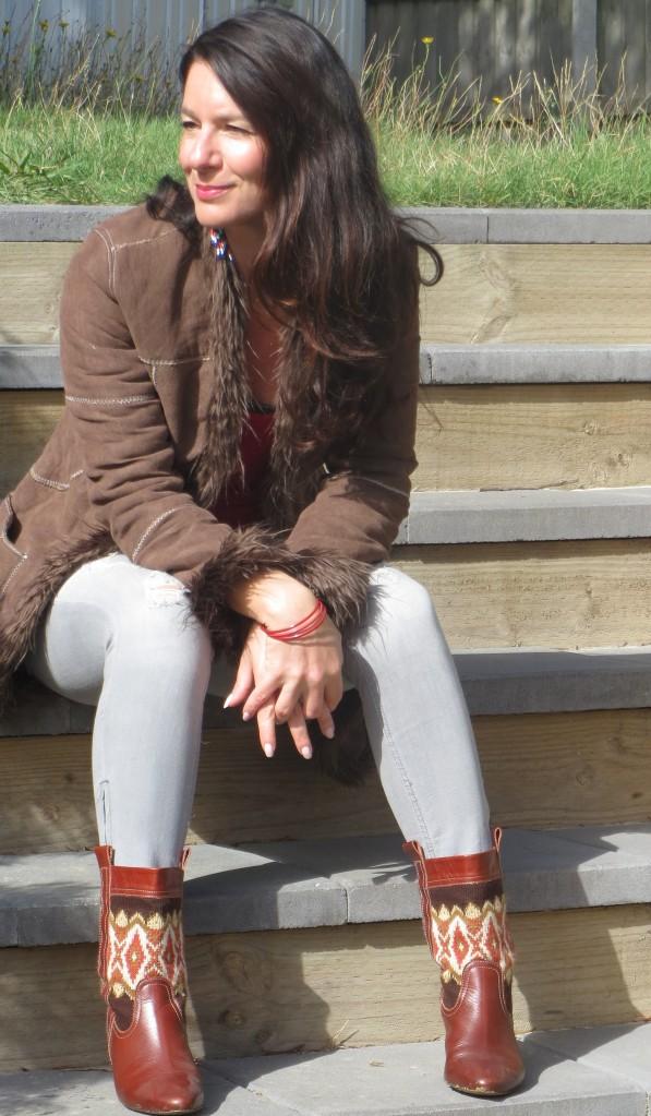Brown jacket, zara boots 2