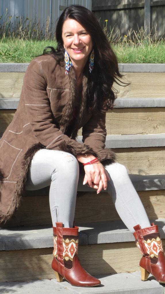 Brown jacket, zara boots 4