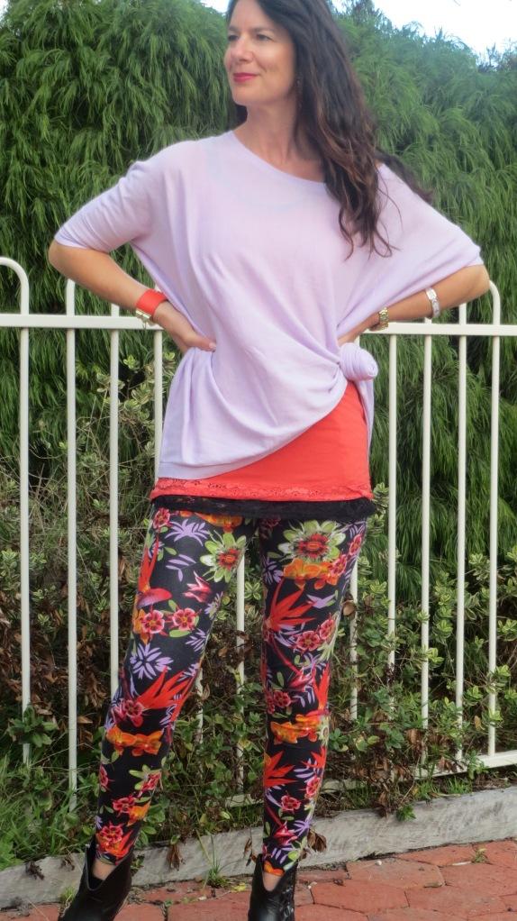 Floral leggings 1