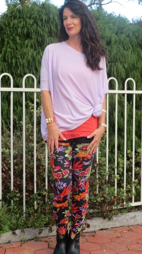 Floral leggings 2