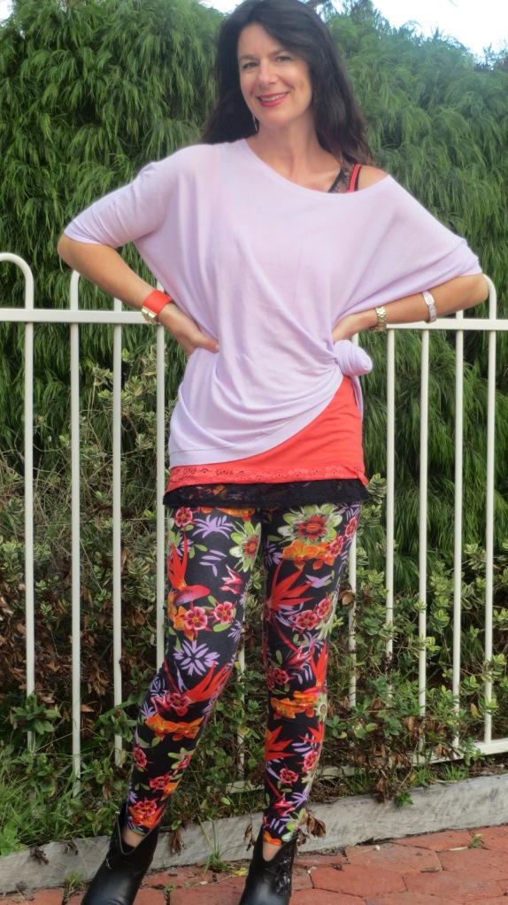 Floral leggings 4