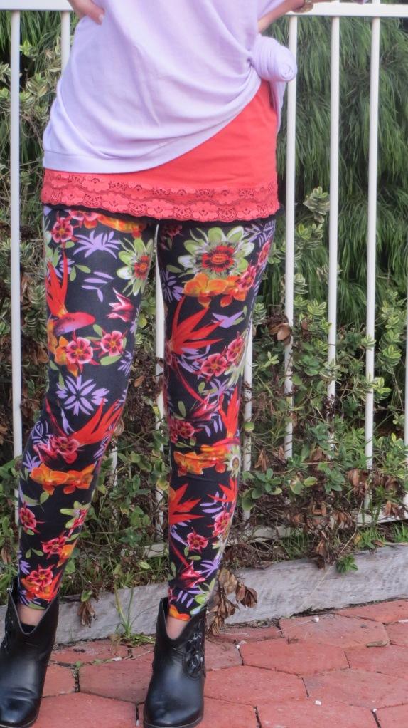 Floral leggings 5