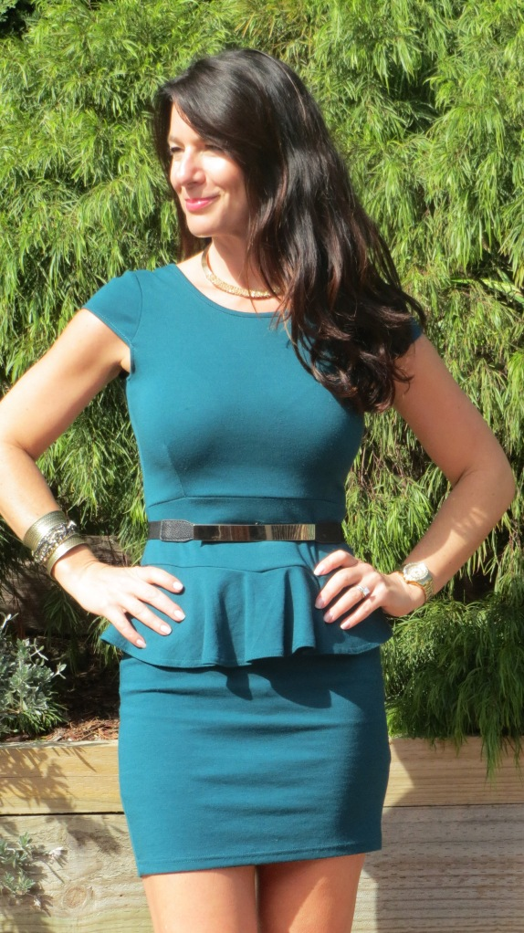 Green peplum dress 2