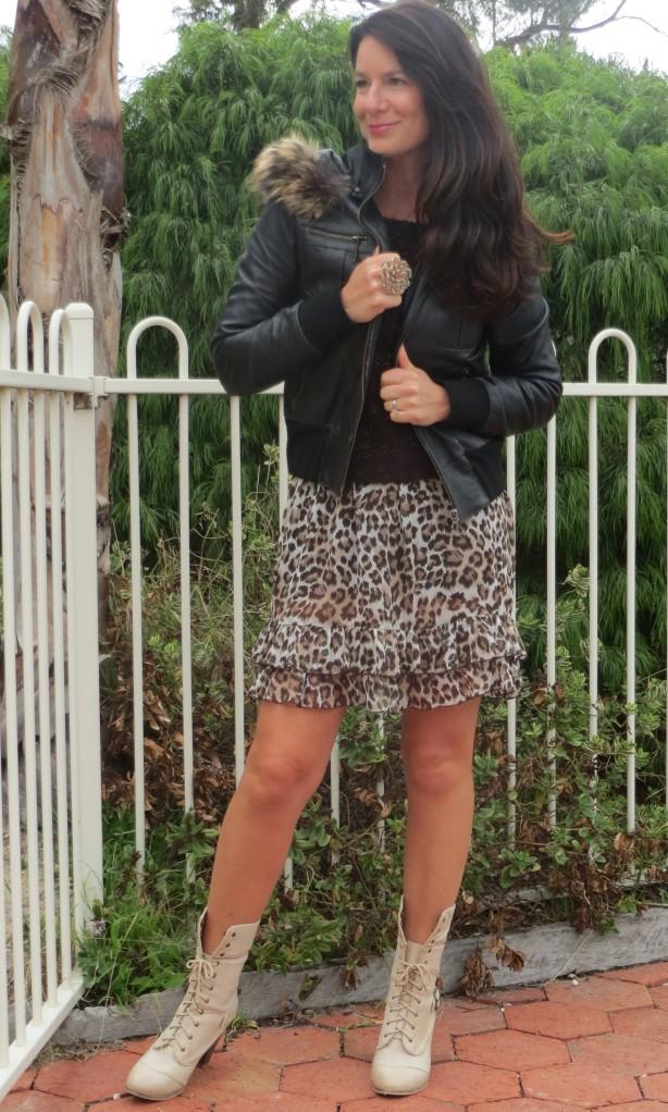Leopard ruffle dress & jumper 1