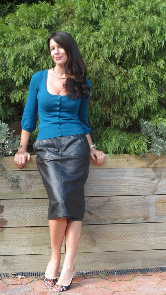 Long leather skirt 1
